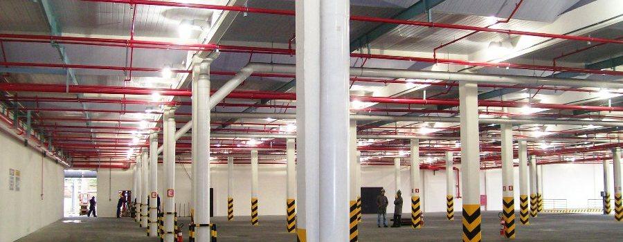 Foto Instalação de hidráulicas contra incêndios.